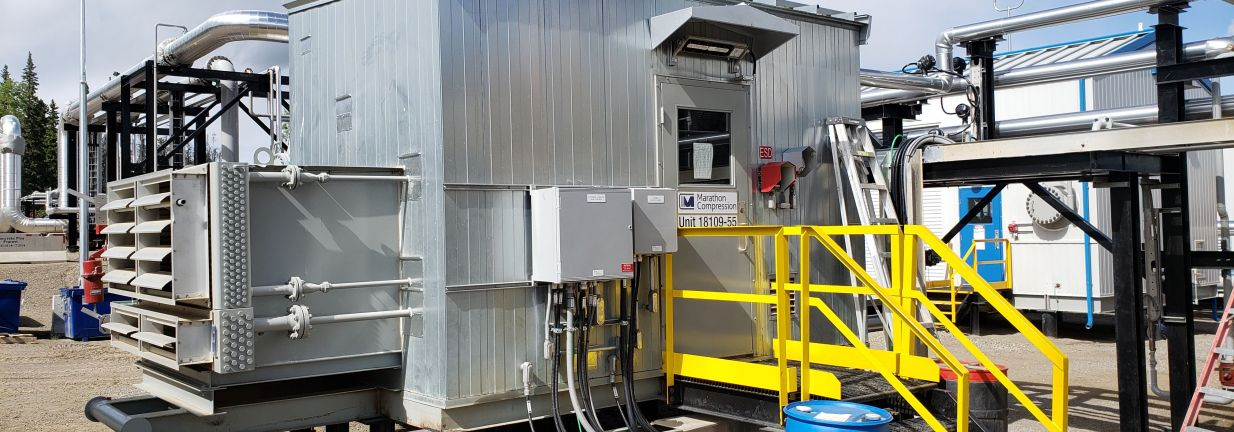 Quincy VRU Electric Motor Natural Gas Compressor